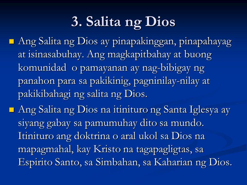 3. Salita ng Dios