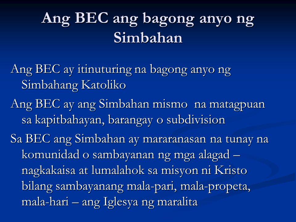 Ang BEC ang bagong anyo ng Simbahan