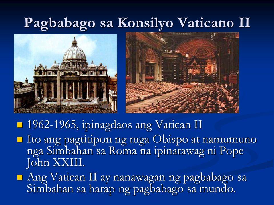 Pagbabago sa Konsilyo Vaticano II