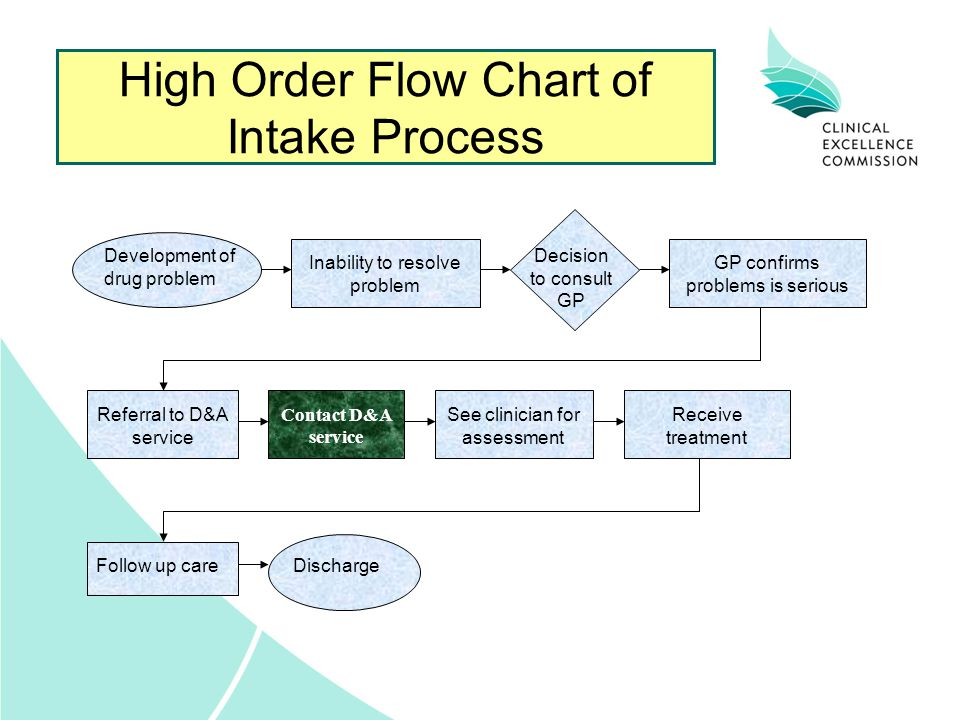High Order Flow Chart of Intake Process