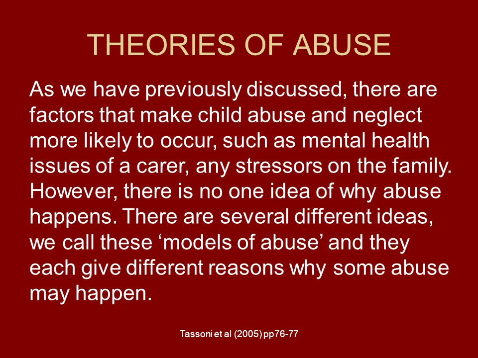 THEORIES OF ABUSE