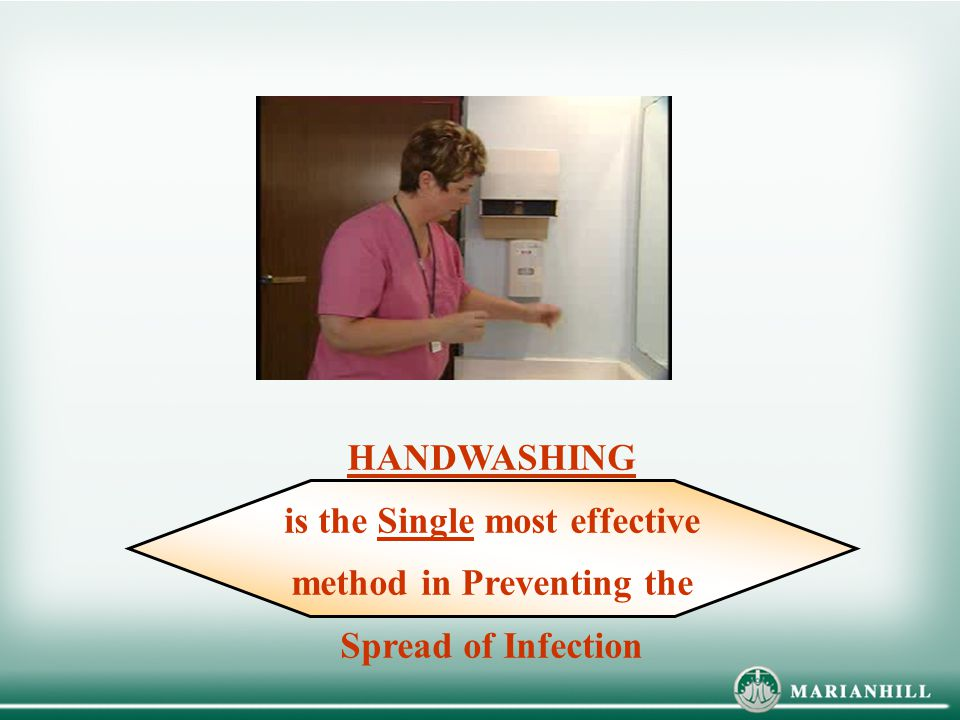Review when to wash hands and also how to wash hands