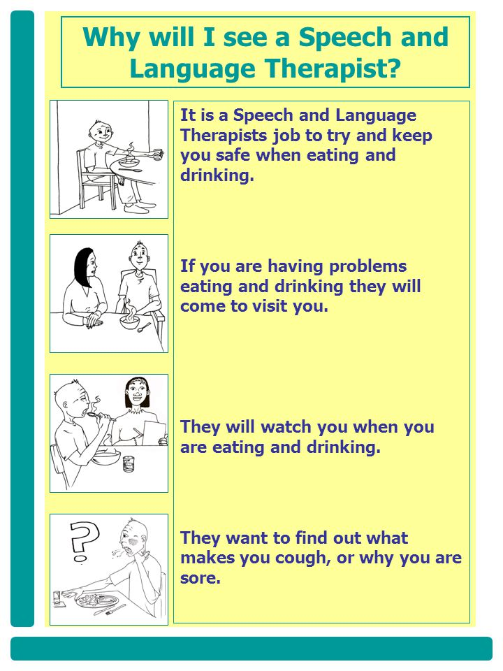Why will I see a Speech and Language Therapist