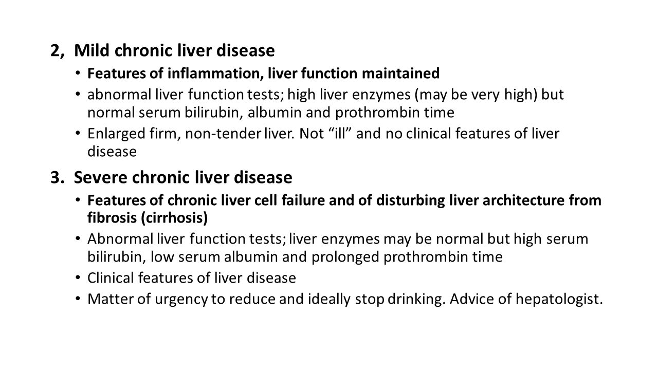 2, Mild chronic liver disease