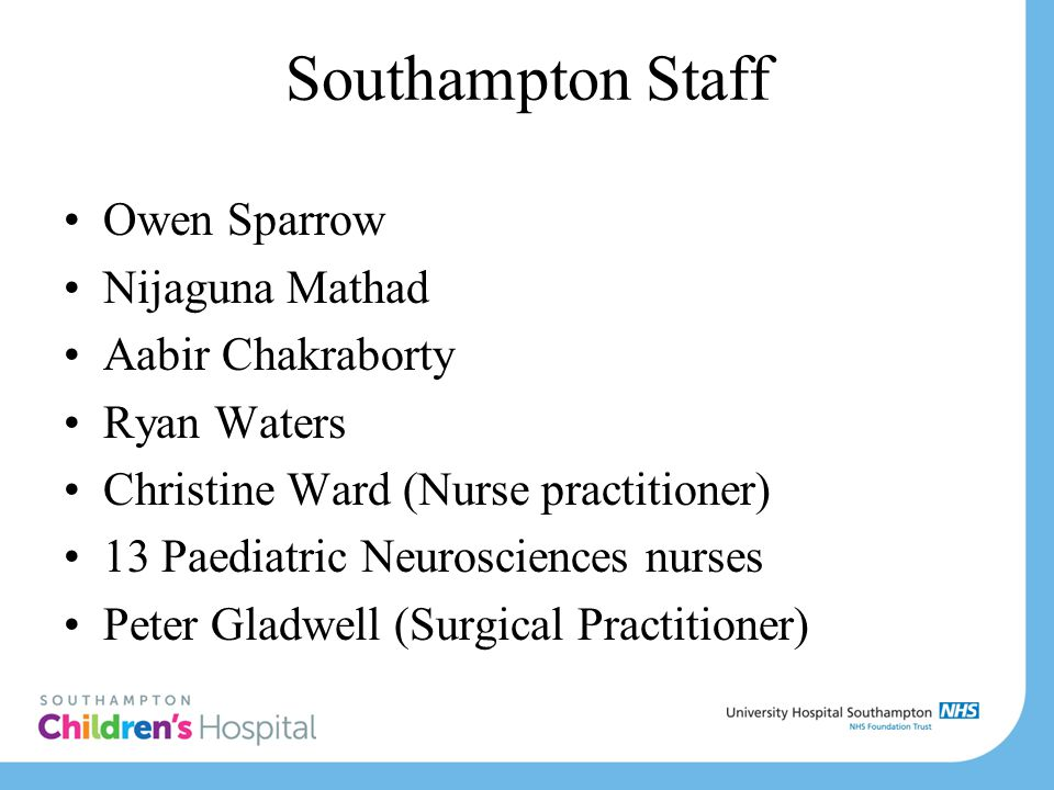 Southampton Staff Owen Sparrow Nijaguna Mathad Aabir Chakraborty