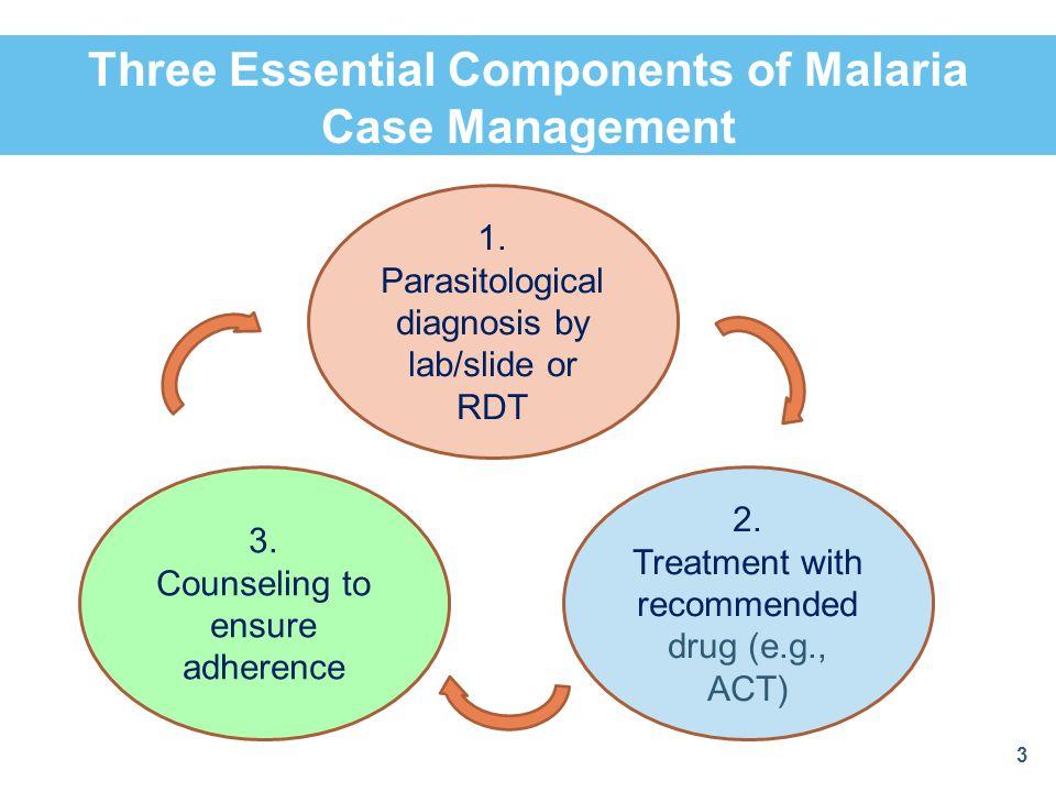 Three Essential Components of Malaria Case Management