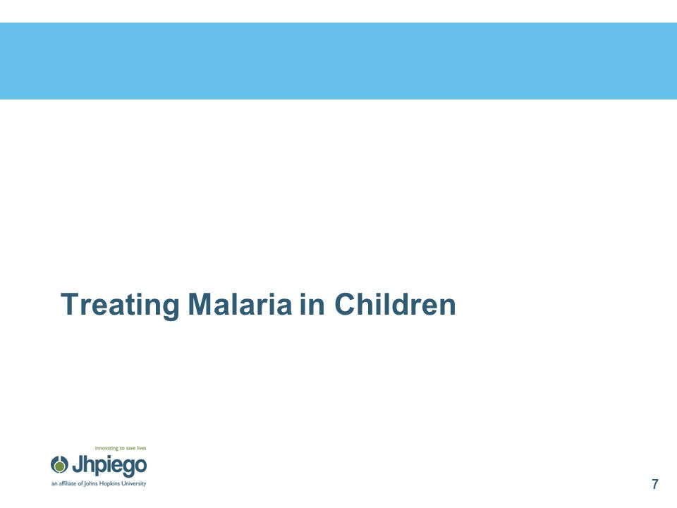 Treating Malaria in Children
