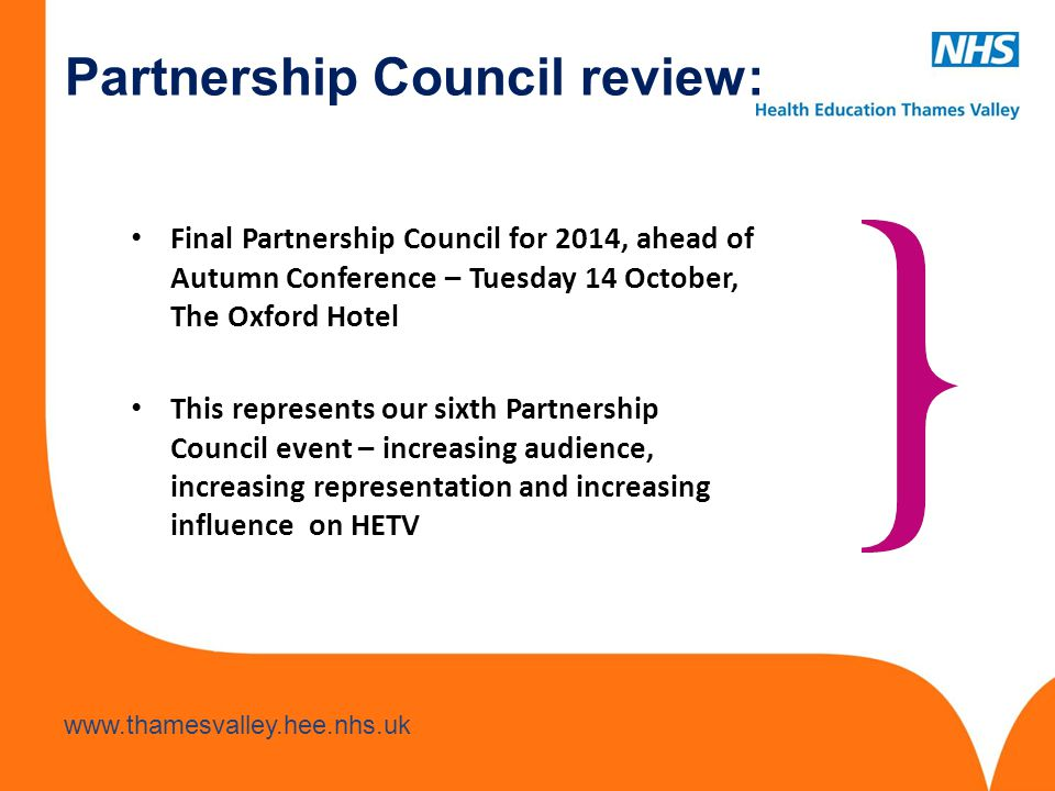 Partnership Council review: