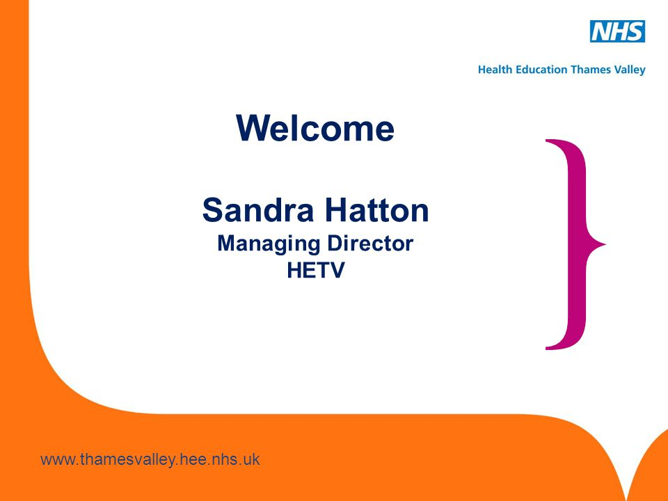 Welcome Sandra Hatton Managing Director HETV