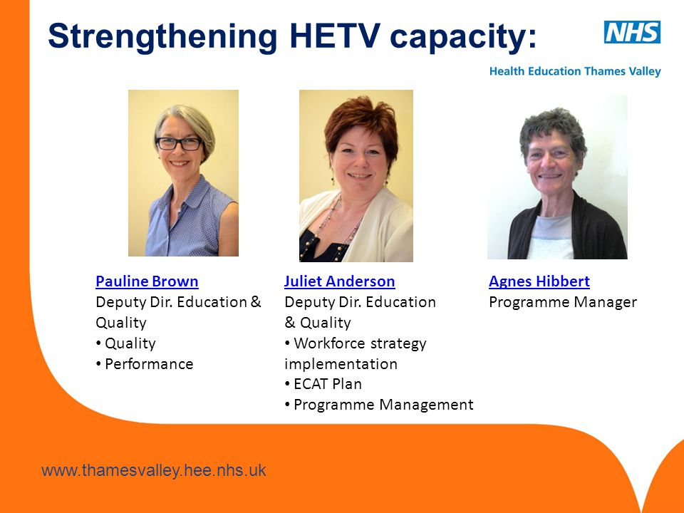 Strengthening HETV capacity: