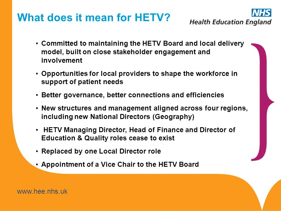 What does it mean for HETV