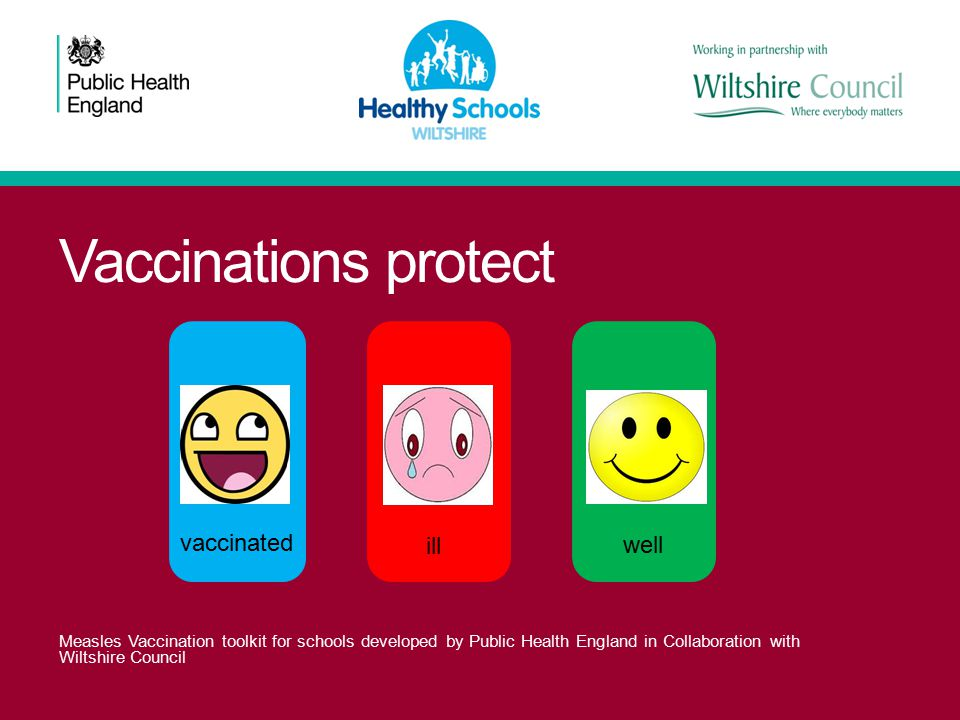 Vaccinations protect vaccinated ill well