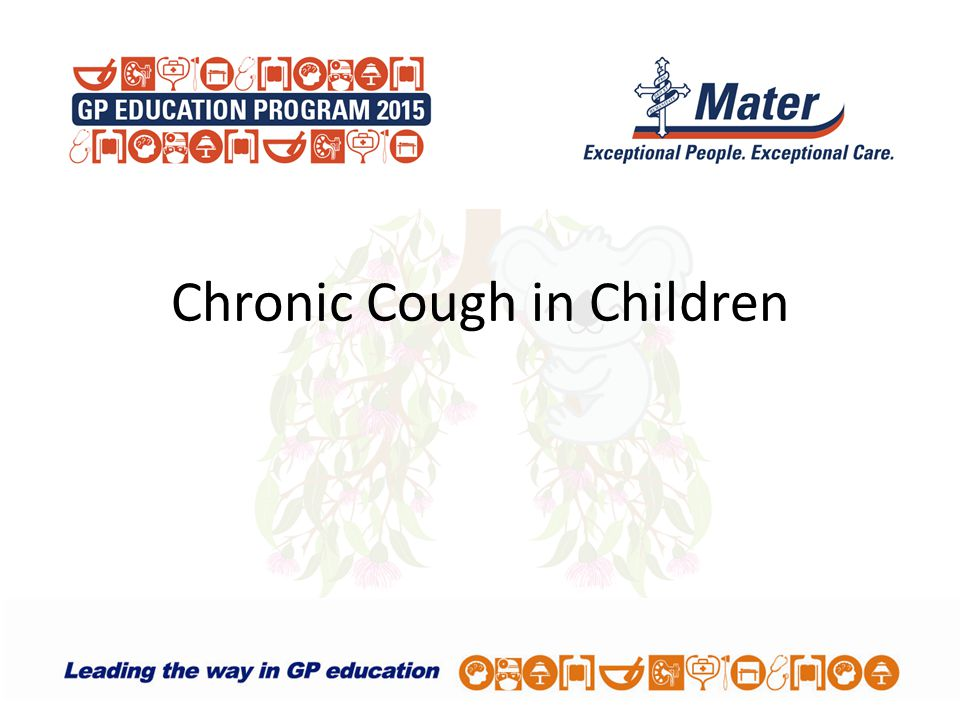 Chronic Cough in Children