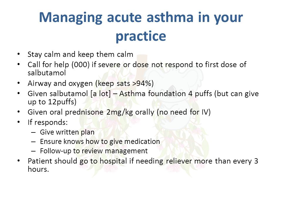 Managing acute asthma in your practice