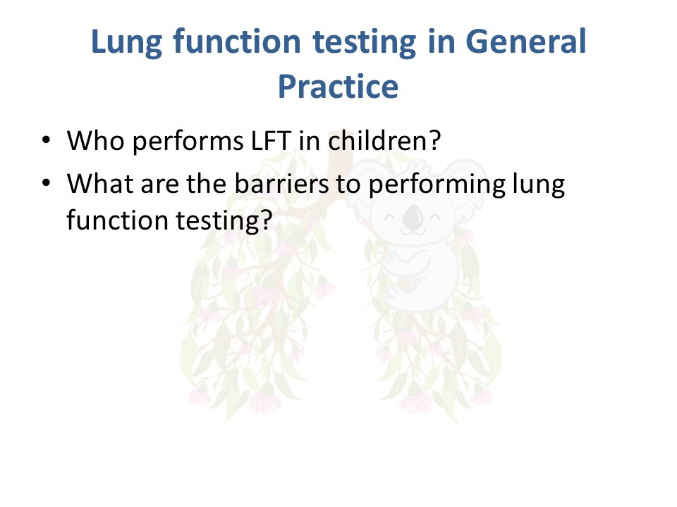Lung function testing in General Practice