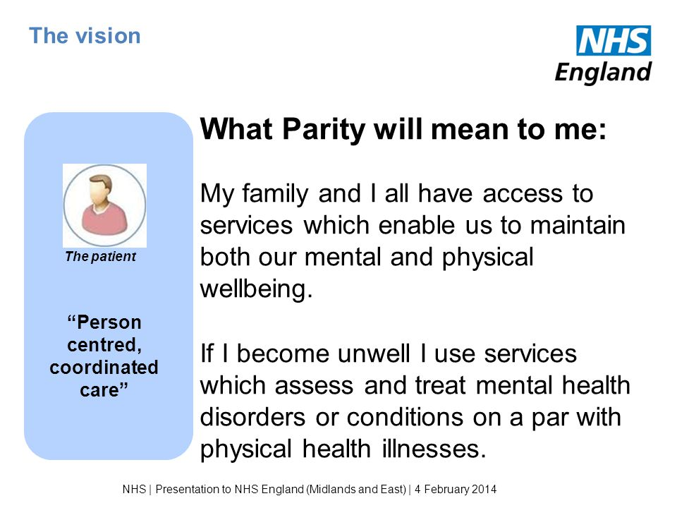 Person centred, coordinated care