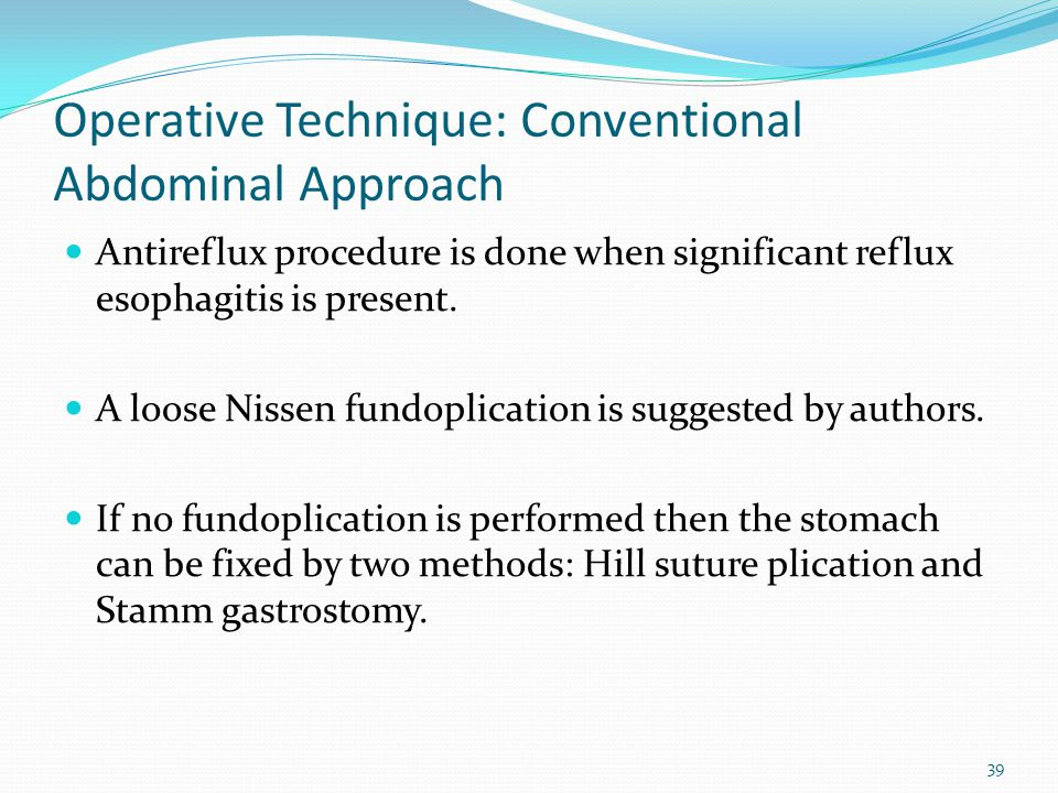 Operative Technique: Conventional Abdominal Approach