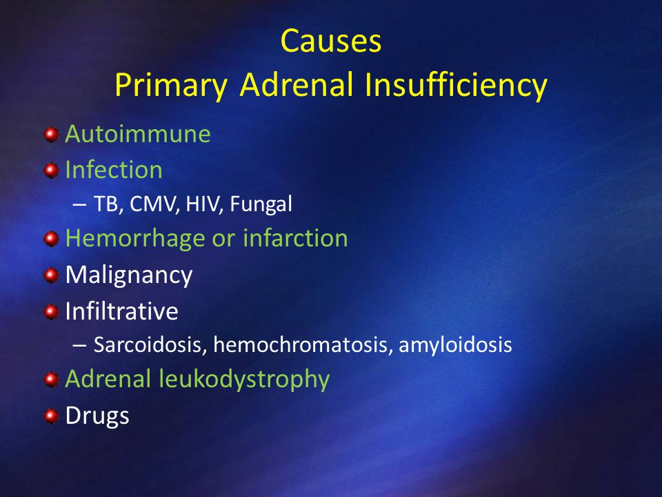 Causes Primary Adrenal Insufficiency