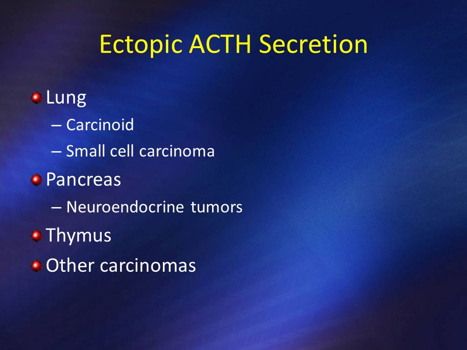 Ectopic ACTH Secretion