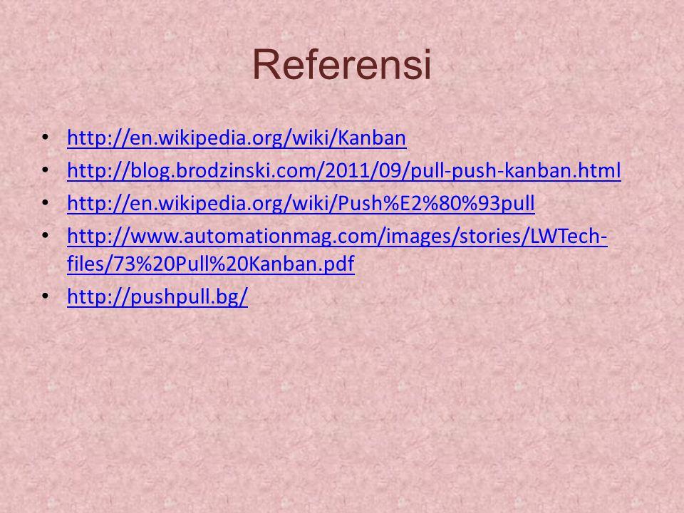 Referensi http://en.wikipedia.org/wiki/Kanban