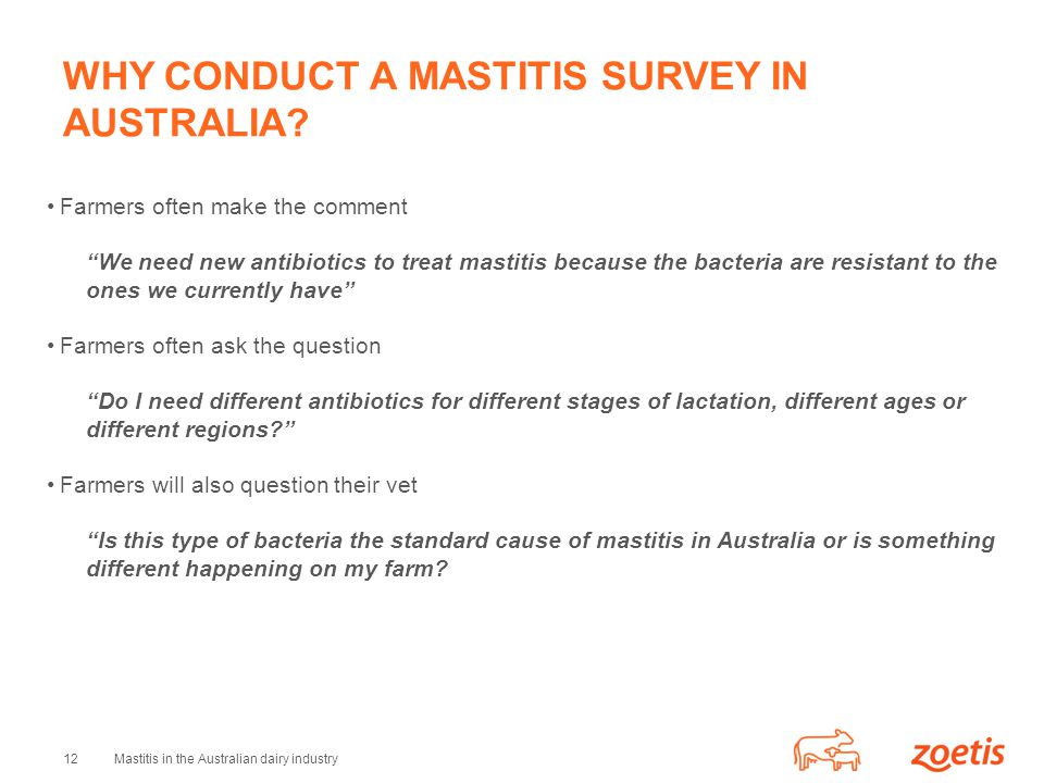 WHY CONDUCT A MASTITIS SURVEY IN AUSTRALIA