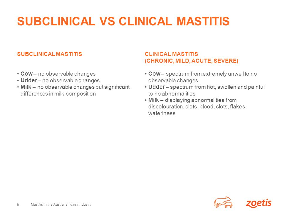 SUBCLINICAL VS CLINICAL MASTITIS