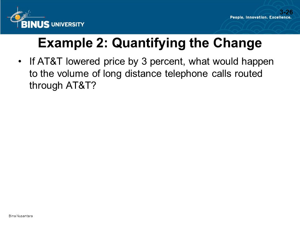 Example 2: Quantifying the Change