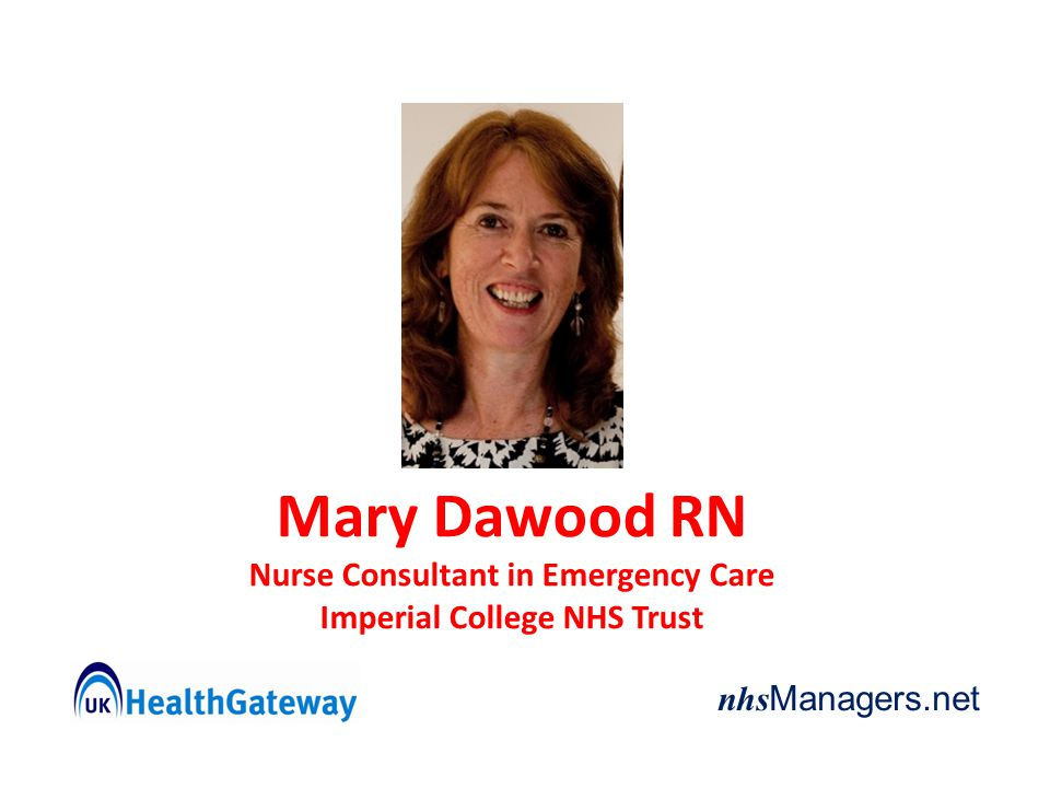 Nurse Consultant in Emergency Care Imperial College NHS Trust