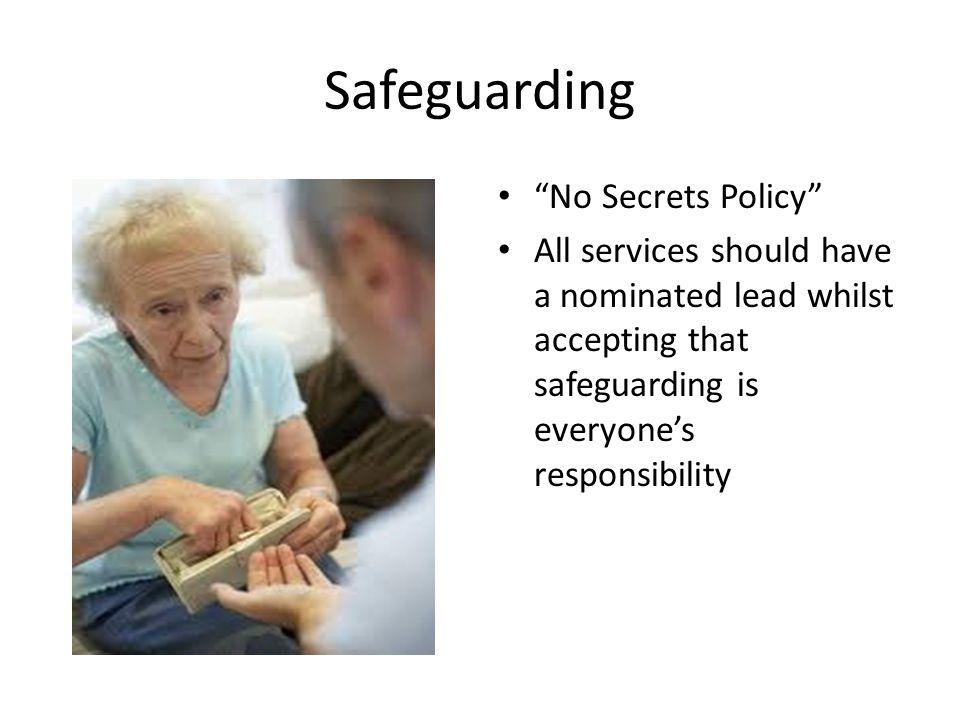 Safeguarding No Secrets Policy