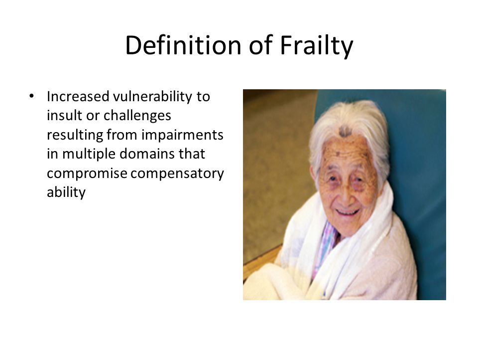 Definition of Frailty