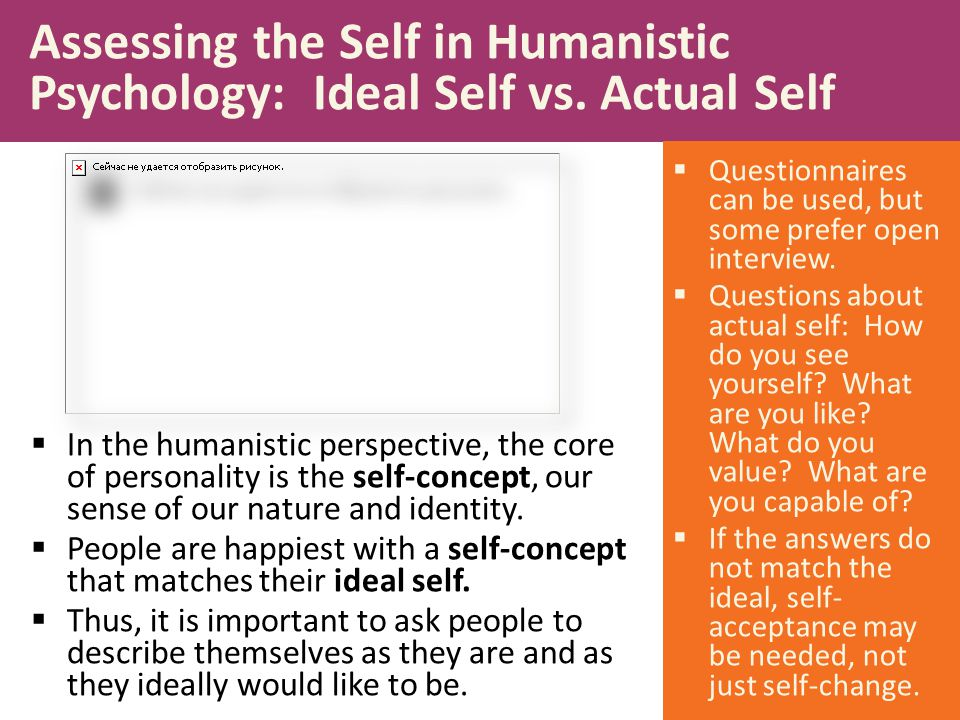 Assessing the Self in Humanistic Psychology: Ideal Self vs. Actual Self