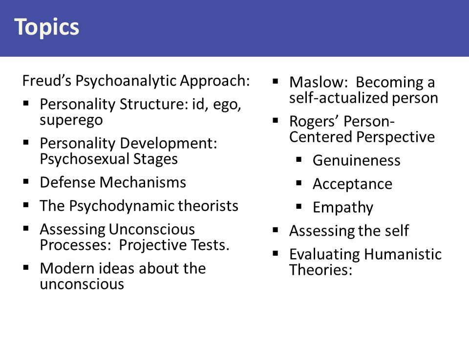 Topics Freud's Psychoanalytic Approach: