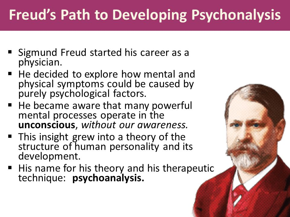 Freud's Path to Developing Psychonalysis