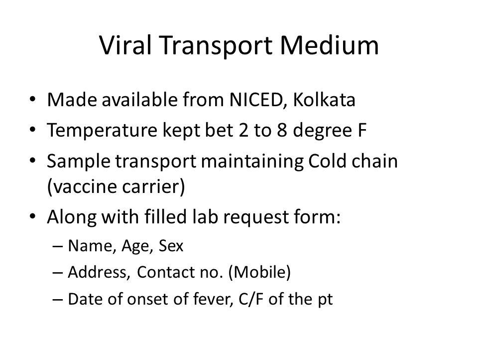 Viral Transport Medium