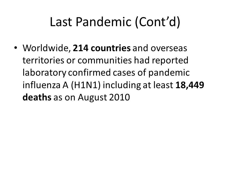 Last Pandemic (Cont'd)