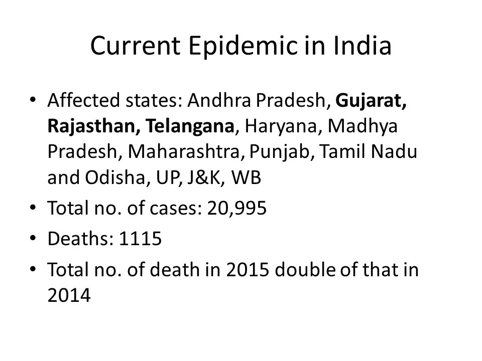 Current Epidemic in India