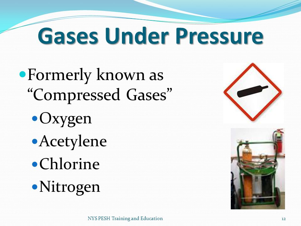 Gases Under Pressure Formerly known as Compressed Gases Oxygen