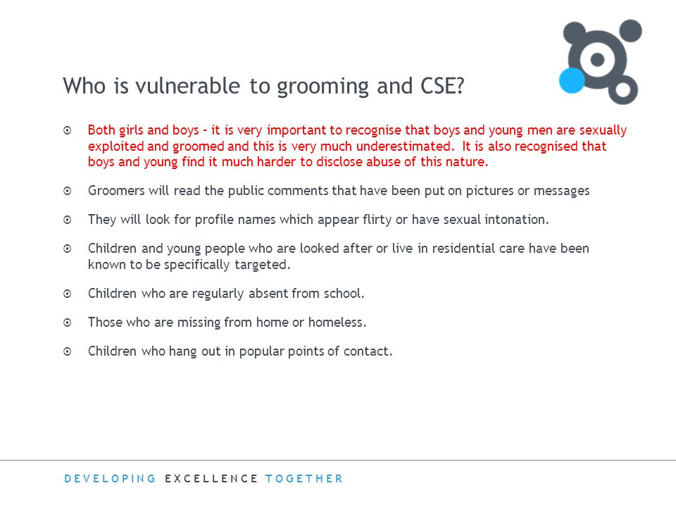 Who is vulnerable to grooming and CSE