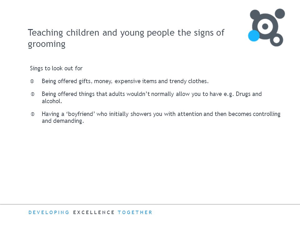 Teaching children and young people the signs of grooming
