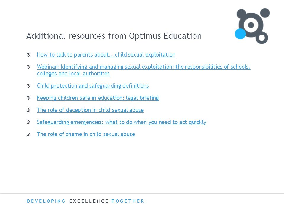Additional resources from Optimus Education