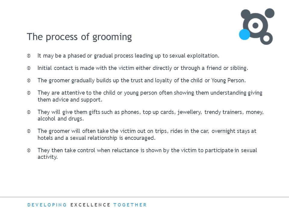 The process of grooming