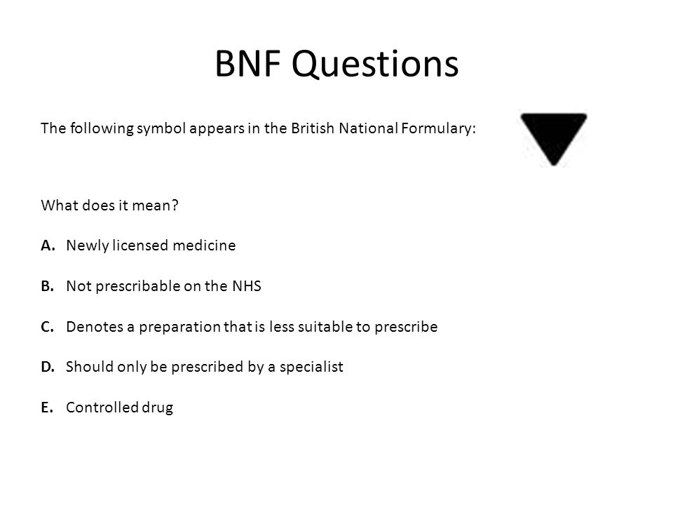 BNF Questions