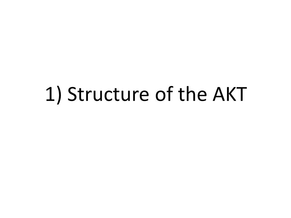1) Structure of the AKT