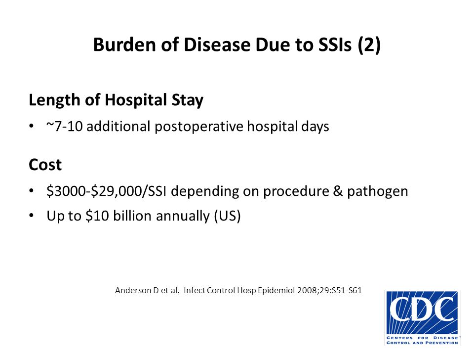 Burden of Disease Due to SSIs (2)