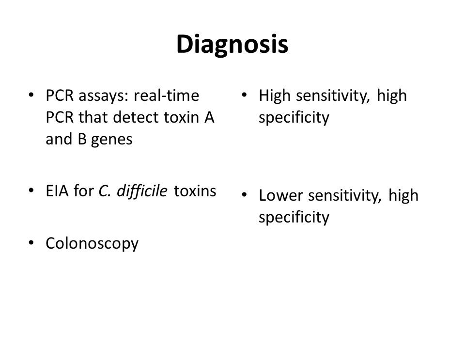 Diagnosis PCR assays: real-time PCR that detect toxin A and B genes