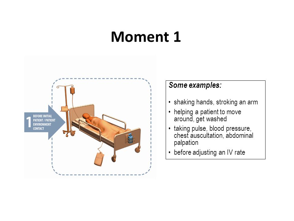Moment 1 Some examples: shaking hands, stroking an arm