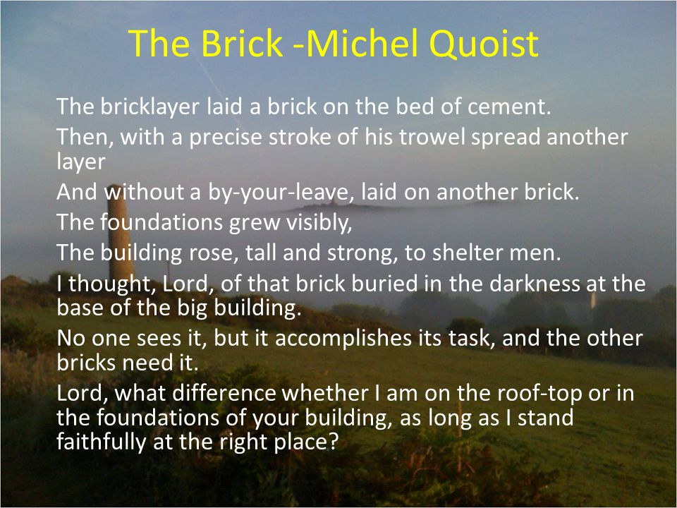 The Brick -Michel Quoist