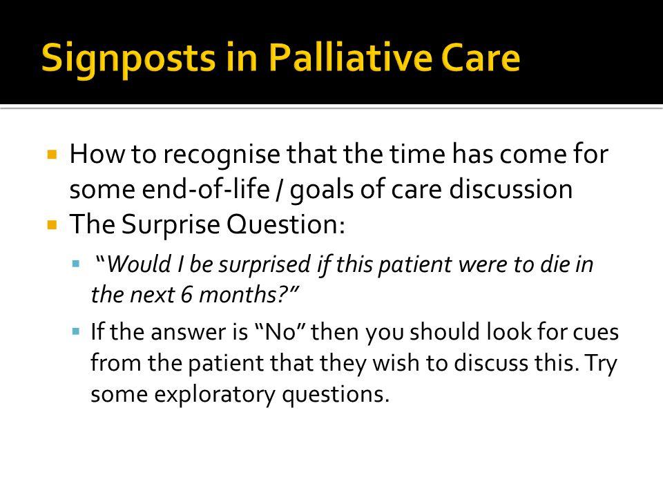 Signposts in Palliative Care