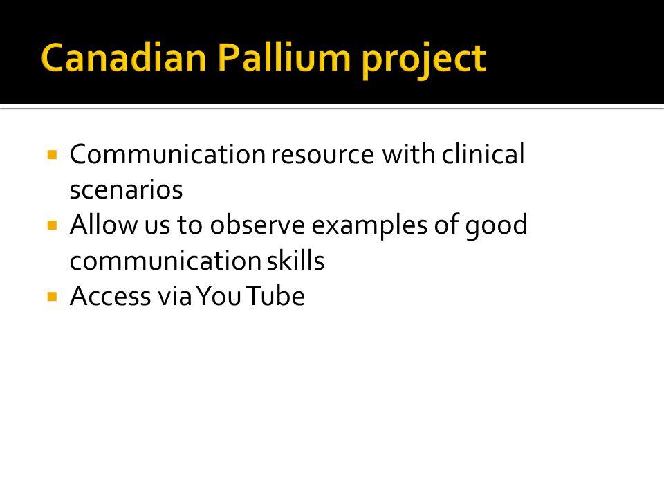 Canadian Pallium project