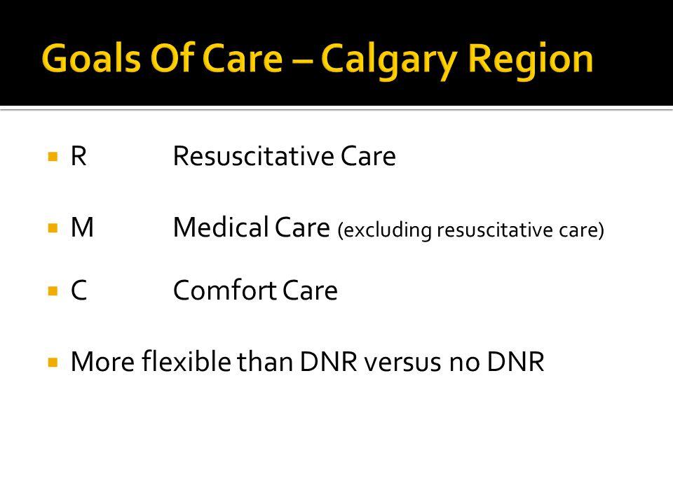 Goals Of Care – Calgary Region